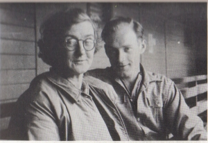 Lucy Gibson and her son John after his release from detention camp.