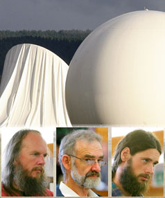 Waihopai Spy Base near Blenheim has its satelite dish cover deflated by protesters over night.